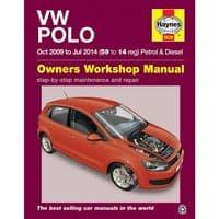 Haynes Manual VW Polo 2009-14 1.2 1.4 1.6 Petrol & Diesel Workshop Manual